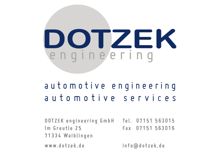 DOTZEK engineering GmbH | automotive engineering - automotive services